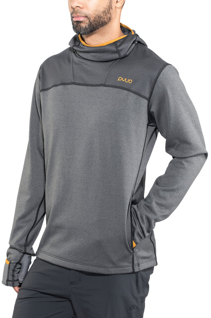 PYUA Dive Y Hoodie Herren almost black grey mel